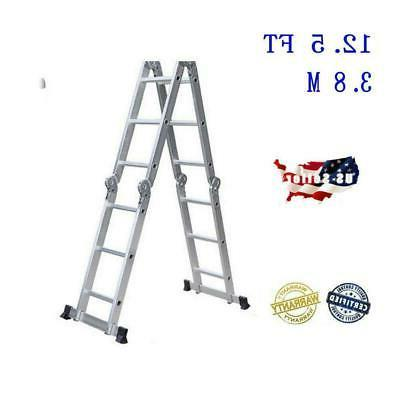 aluminum ladder folding 12 5ft step scaffold