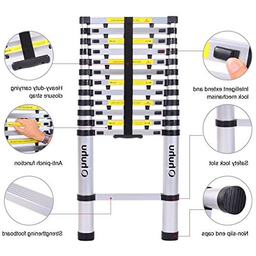 Ohuhu Telescopic Extension Buttons Certified Extendable Ladder with Mechanism Non-slip Pound