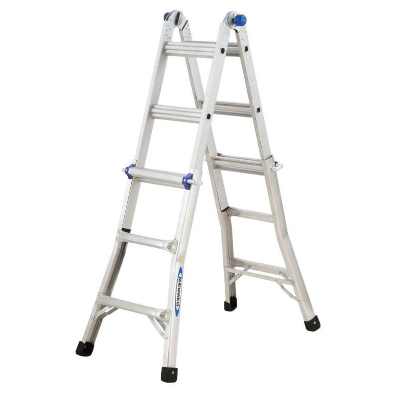 Multi Position Ladder Load Capacity Werner Reach Aluminum Te