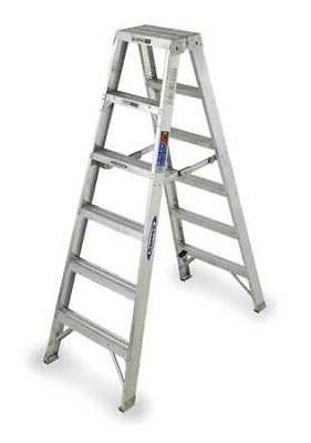 Werner 6' Aluminum 300 lb. Twin Stepladder, Type IA, T376