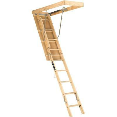 Attic Ladder Pull Down Folding Stairs Wood Steps Ceiling Doo