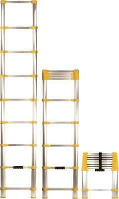 Compact Extension Ladder 8.5 ft Telescoping 225 lbs Load Cap