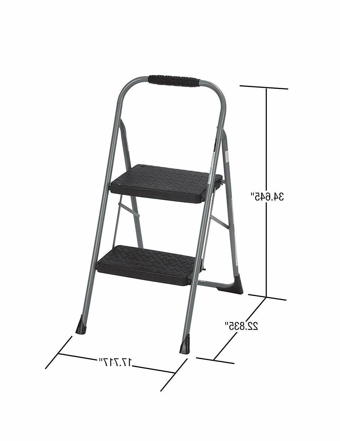Cosco Two Step Big Step Folding Stool Rubber Hand Grip,