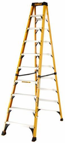 DeWalt DXL3410-10 10-Feet Fiberglass Stepladder Type IAA wit