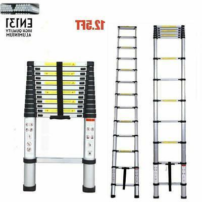 EN131 12.5FT Telescopic Aluminum Step Multi Purpose