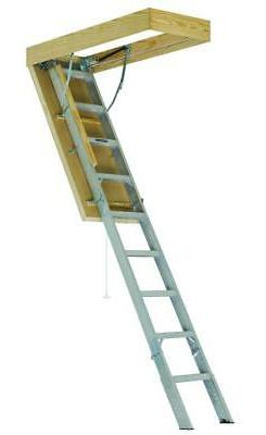 Louisville Ladder Energy Efficient Aluminum Attic Ladder AEE