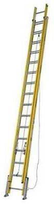 Extension Ladder, Fiberglass, 32 ft, IAA