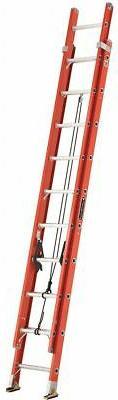 FE3200 Series Fiberglass Channel Extension Ladders - 20' fib