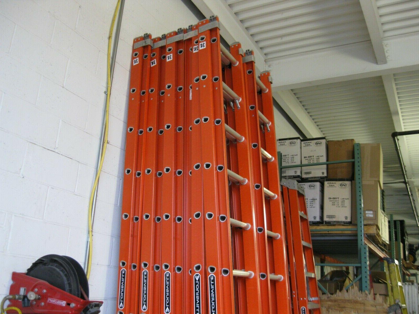 Louisville Ladder FE3224 Fiberglass Extension Ladder 300-Pou