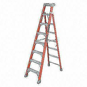 LOUISVILLE FXS1508 8 ft. Fiberglass 300 lb. Stepladder, Type