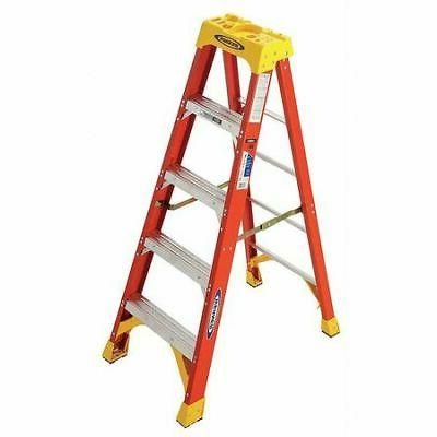 WERNER 6205 5 ft. Fiberglass 300 lb. Stepladder, Type IA
