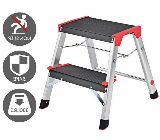 fold up step stool two step ladder
