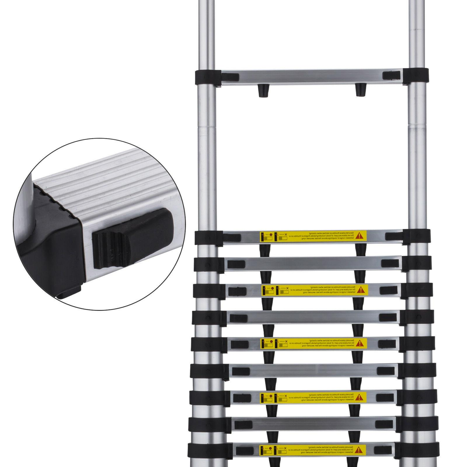 Folding 12.5FT Multi Telescopic Extension Ladder Aluminum Heavy