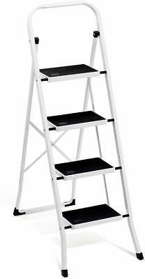 Delxo Folding 4 Step Ladder with Convenient Handgrip Anti-Sl