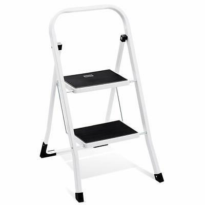 Delxo 2 Step Ladder Folding Step Stool Ladder with Handgrip