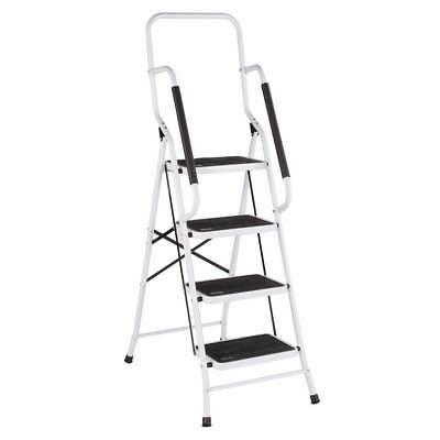 folding 4 step safety ladder padded side