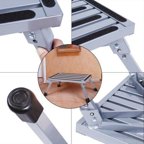 Folding Aluminum Step Stool RV Working