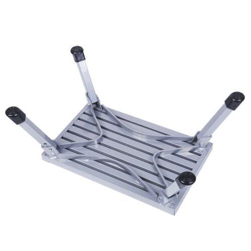Folding Platform Step Stool Trailer Camper Working Ladder Portable