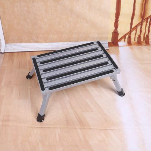 Folding Aluminum Stool RV Working Ladder Portable