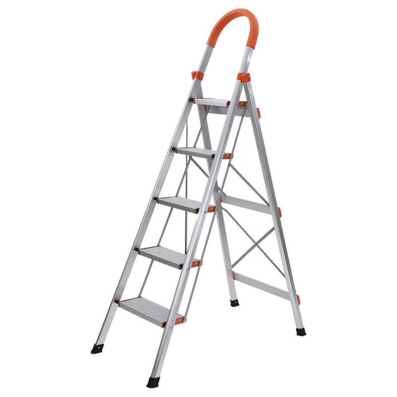 Folding Anti-Slip 5/4/3Step Ladder Steel Platform Step Alumi