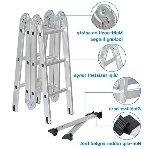 Luisladders Aluminium Extension in 1 Step Heavy Combination