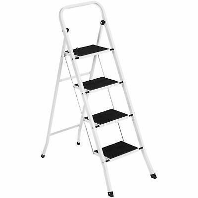 BCP Folding Steel 4-Step Ladder w/ Hand Rail, Wide Steps, 30