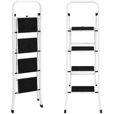Portable 4 Ladder Steel Heavy Lightweight