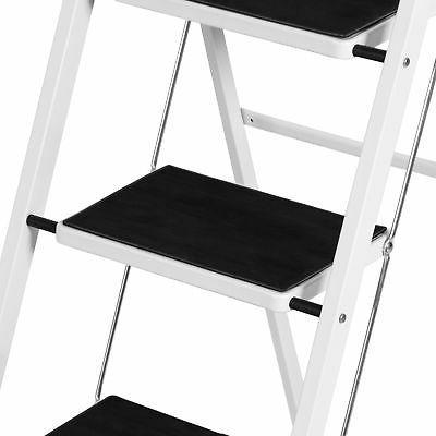 Portable Folding Ladder Steel 300lb Heavy Lightweight