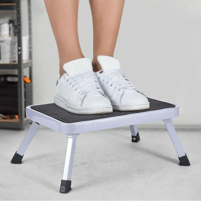 portable folding aluminum platform step stool rv