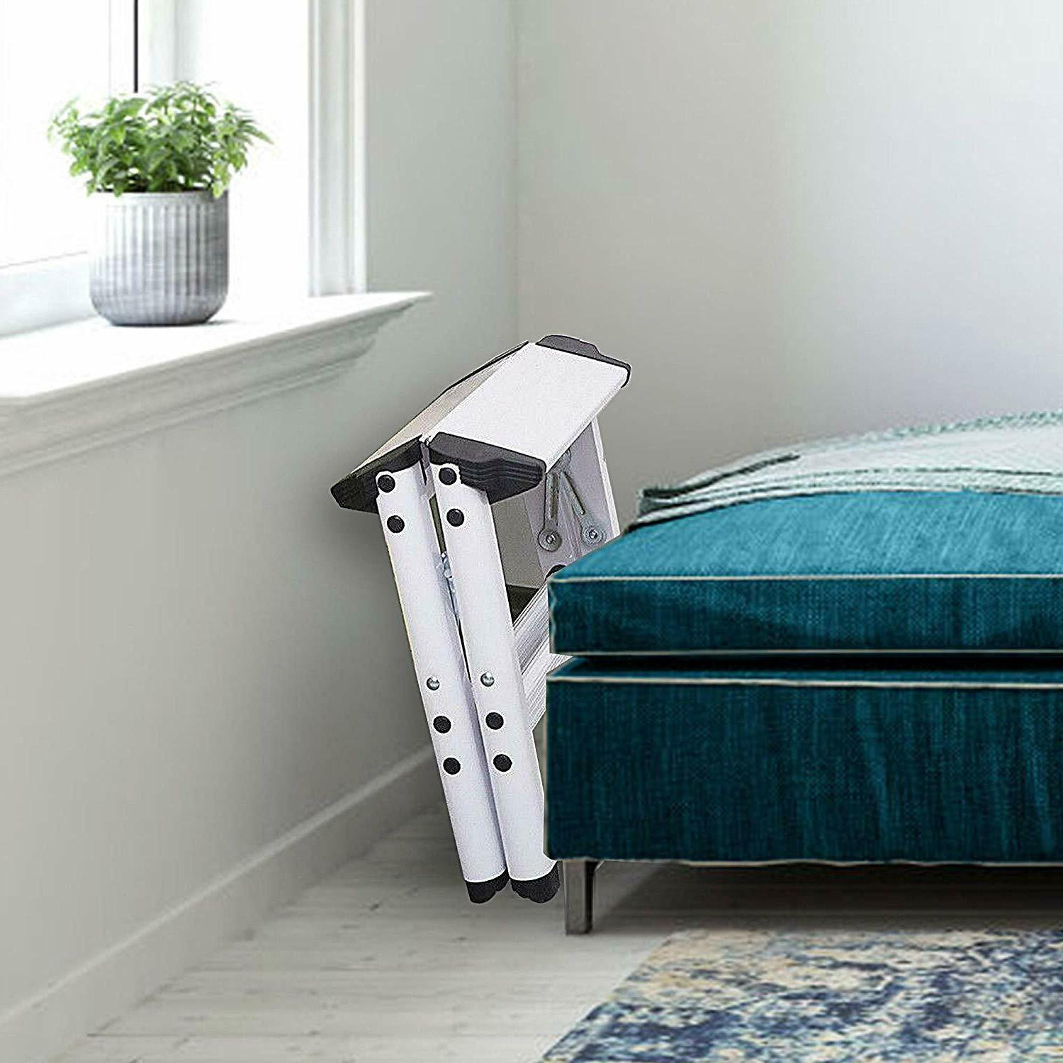 Folding Metal Step Ladder for Home Kitchen lbs