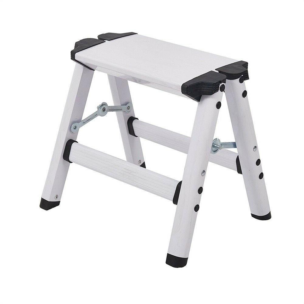 folding step stool aluminum metal step ladder
