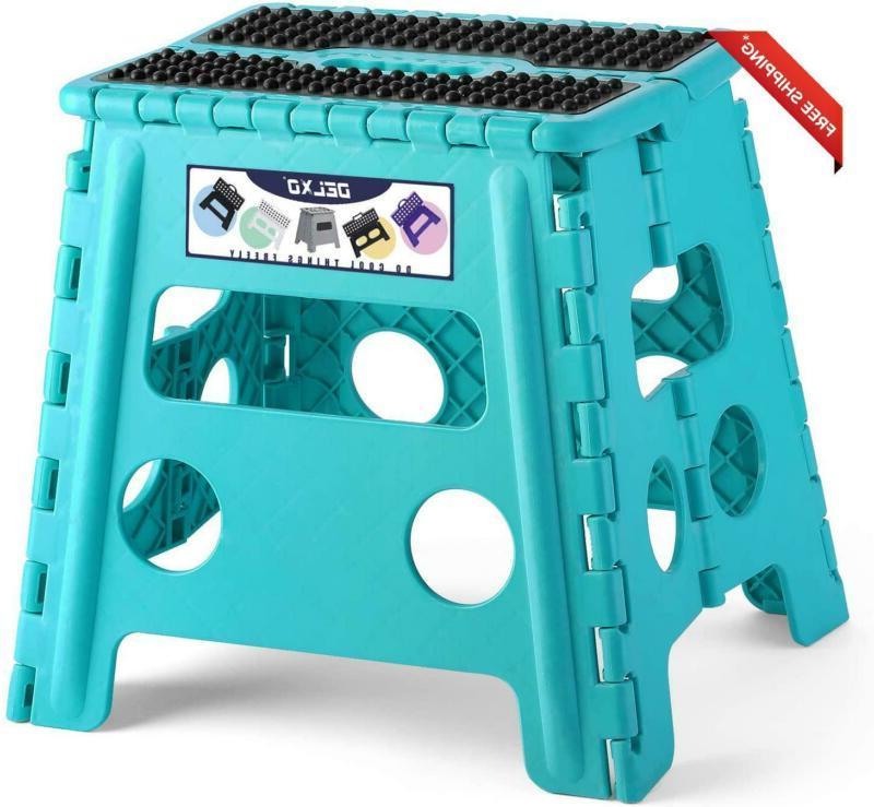 Delxo Folding Step Stool Lightweight Plastic Step Stool  Fol