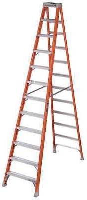 LOUISVILLE FS1512 12 ft. Fiberglass 300 lb. Stepladder, Type