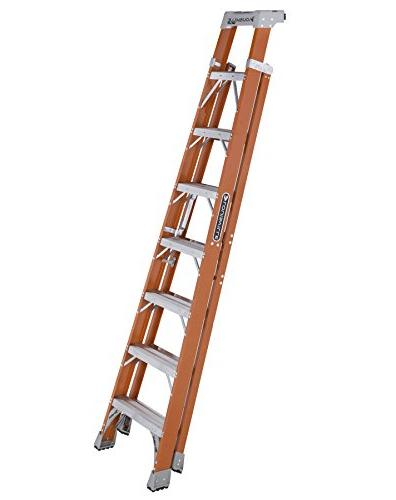 Louisville Ladder Step/Shelf Ladder, 300-Pound Orange, FXS1508