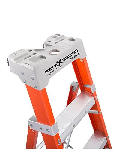Louisville 8-Foot Step/Shelf Ladder, Orange,