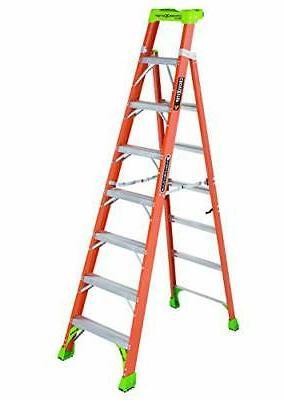 Louisville Step/Shelf Ladder, Orange,