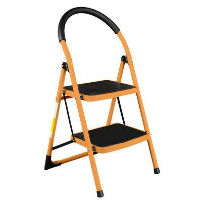 2 Step Ladder Folding Stool Heavy Duty Industrial Lightweigh