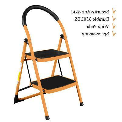 heavy duty non slip 2 step ladder