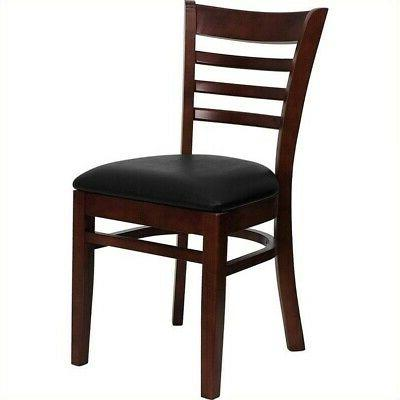 Bowery Hill Ladder Back Dining Chair in Mahogany