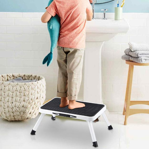 Home Kitchen Rv Folding Steel Step Stool One