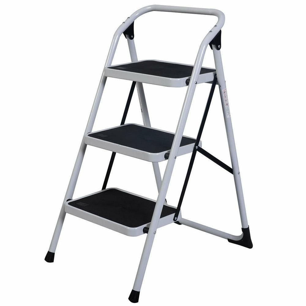 US Use 3-Step Short Ladder Black White