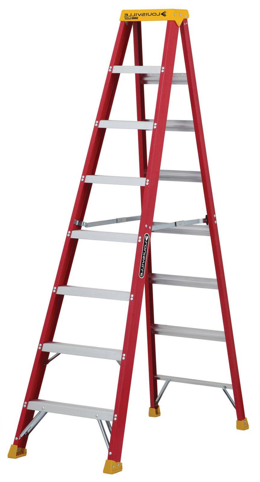 Louisville Ladder L-3016-08 300-Pound Duty Rating Fiberglass