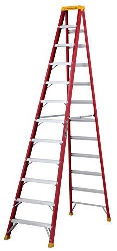 l-3016-12 fiberglass step ladder, 12 feet, 300 pound duty ra