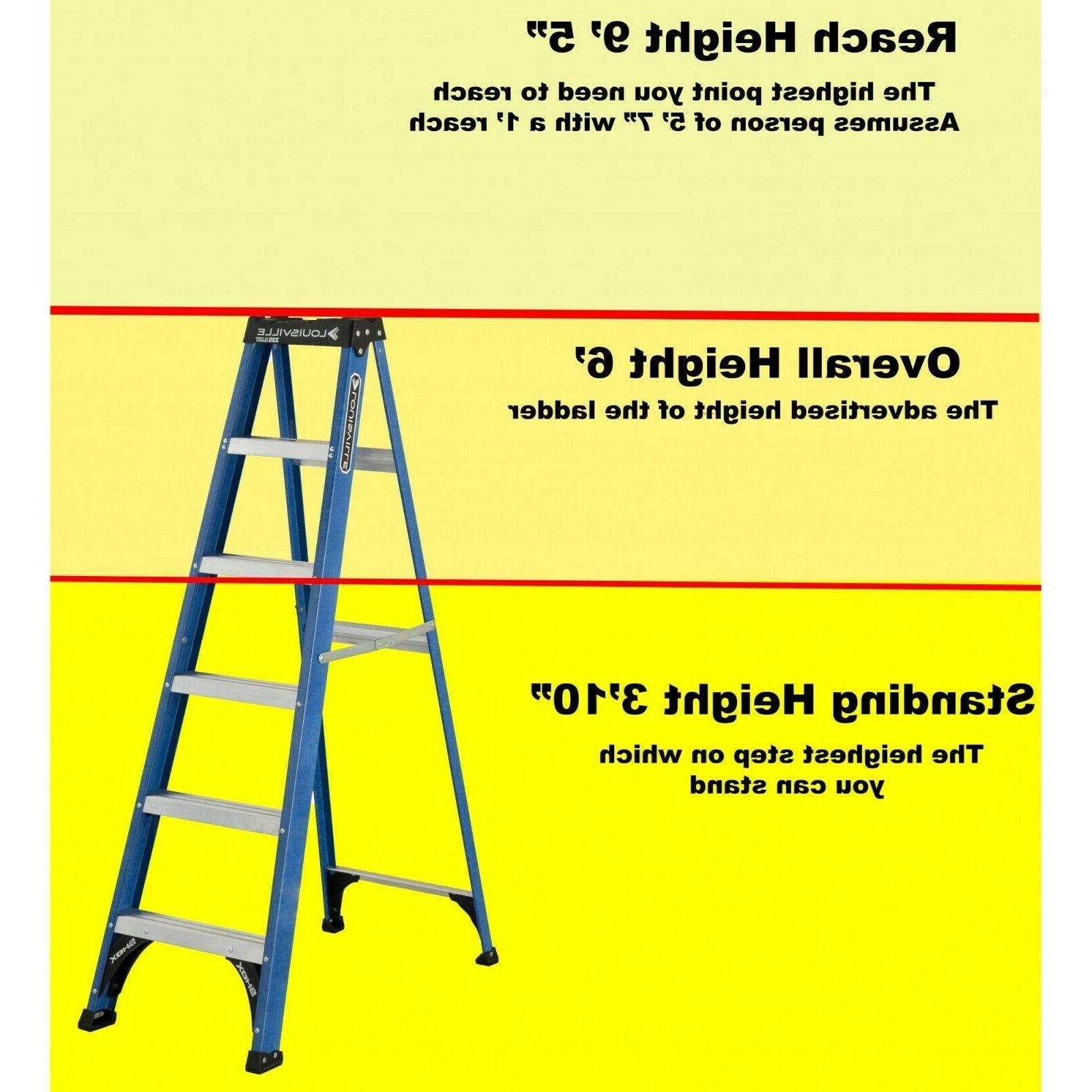 Ladder 6-Foot Fiberglass Ladder, II Brandnew