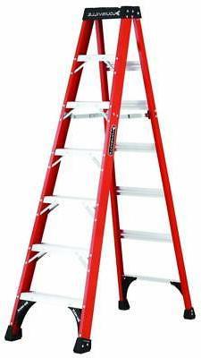 Louisville Ladder FS1407HD 7 ft Fiberglass Standard Step Lad