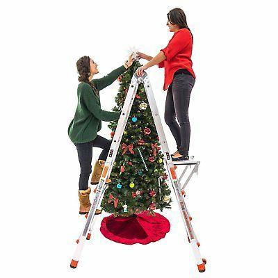 Little Giant Foot Adjustable Ladder & Work Platform