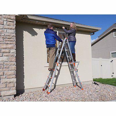 Little Giant Velocity Foot Adjustable Folding Ladder & Work