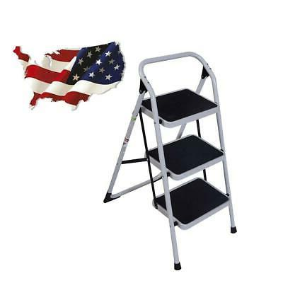 multi purpose 3 step lightweight ladder platform