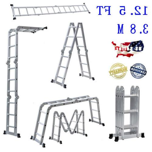 multi purpose aluminum ladder folding step ladder