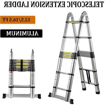 multi purpose aluminum telescopic ladder heavy duty